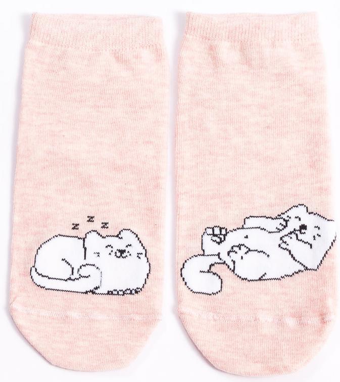 Носки женские Mark Formelle, цвет: розовый. 300K-497_9065. Размер 25 (38/39)300K-497_9065Удобные носки Mark Formelle, изготовленные из высококачественного комбинированного материала, очень мягкие и приятные на ощупь, позволяют коже дышать. Эластичная резинка плотно облегает ногу, не сдавливая ее, обеспечивая комфорт и удобство. Модель с укороченным паголенком дополнена принтом. Практичные и комфортные носки великолепно подойдут к любой вашей обуви.