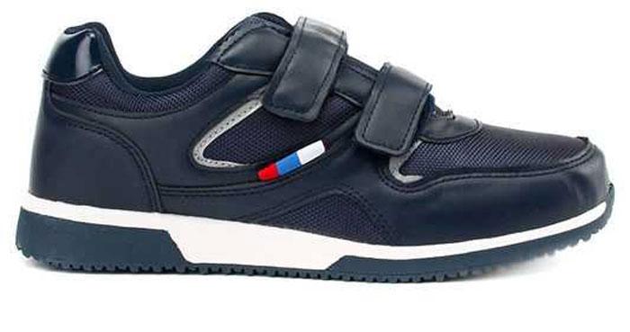 Кроссовки для мальчика Зебра, цвет: темно-синий. 10955-5. Размер 4210955-5Стильные кроссовки от Зебра выполнены из текстиля со вставками из искусственной кожи. Застежки-липучки обеспечивают надежную фиксацию обуви на ноге ребенка. Подкладка выполнена из текстиля, что предотвращает натирание и гарантирует уют. Стелька с поверхностью из натуральной кожи оснащена небольшим супинатором, который обеспечивает правильное положение ноги ребенка при ходьбе и предотвращает плоскостопие. Подошва с рифлением обеспечивает идеальное сцепление с любыми поверхностями.