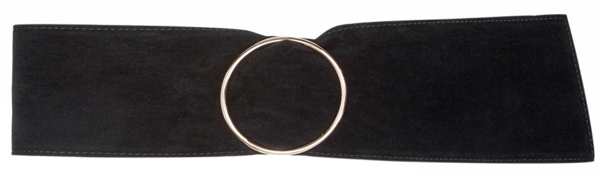 Ремень женский oodji, цвет: черный. 45100100/19836/2900N. Размер 9045100100/19836/2900NПояс широкий из искусственной замши
