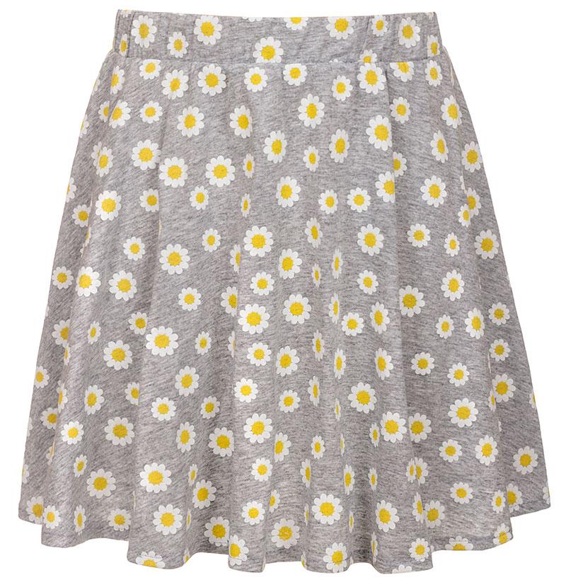 Юбка для девочки M&D, цвет: серый, желтый. SJA27074M77. Размер 134SJA27074M77Юбка для девочки M&D подойдет вашей маленькой моднице и станет отличным дополнением к ее гардеробу. Изготовленная из натурального хлопка, она мягкая и приятная на ощупь, не сковывает движения и позволяет коже дышать. Модель на поясе имеет широкую трикотажную резинку, благодаря чему юбка не сползает и не сдавливает животик ребенка. Модель оформлена принтом в ромашку. В такой юбочке ваша маленькая принцесса будет чувствовать себя комфортно, уютно и всегда будет в центре внимания!