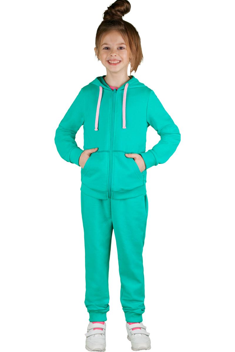 Спортивный костюм для девочки Boom!, цвет: зеленый. 70805_BLG_вар.2. Размер 122/128, 7-8 лет70805_BLG_вар.2Спортивный костюм для девочки Boom! выполнен из хлопка с добавлением полиэстера и лайкры. Костюм состоит из брюк и толстовки на молнии. Толстовка имеет длинные рукава, капюшон со шнурком для регулировки объема и два кармана. Брюки снабжены резинкой на талии и боковыми карманами. Удобный и практичный спортивный костюм отлично подходит для занятий физкультурой и прогулок на свежем воздухе.