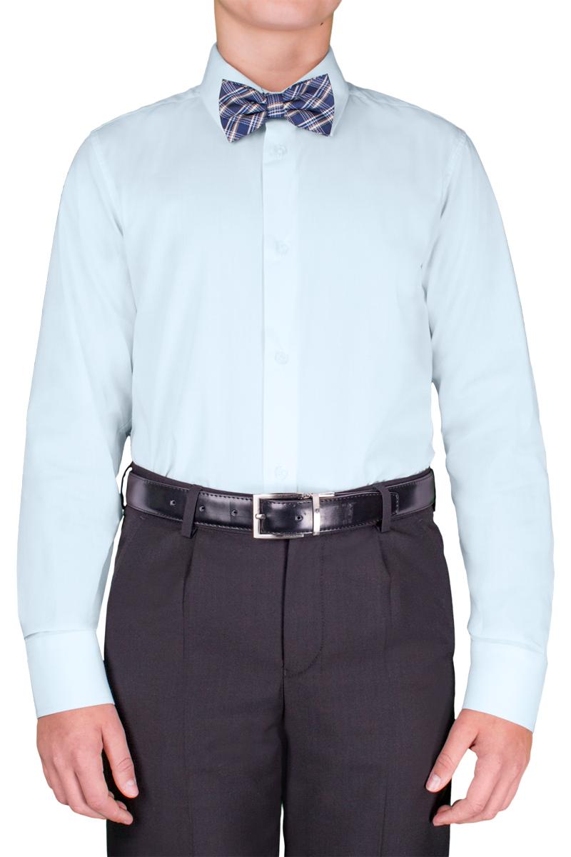 Рубашка для мальчика Orby School, цвет: голубой. 70404_OLB_вар.2. Размер 170, 13-14 лет70404_OLB_вар.2Классическая рубашка для мальчика Orby School выполнена из полиэстера и хлопка. Модель приталенного силуэта с отложным воротником и длинными рукавами застегивается спереди на пуговицы. На рукавах предусмотрены манжеты с застежками-пуговицами. Лаконичная прострочка завершает композицию. Такая модель отлично сочетается и с вязаными изделиями, и с пиджаками из костюмной ткани.