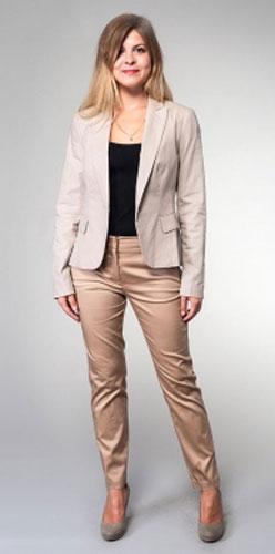 Жакет женский Milton, цвет: серый. WJ-3405V. Размер 50WJ-3405VКлассический однобортный жакет с английским воротником и лацканами, на полочках внутренние карманы.