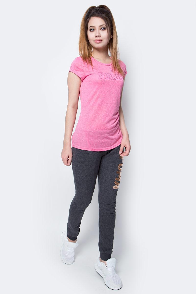 Футболка женская Puma Active Ess No.1 Tee W, цвет: розовый. 838438_38. Размер M (44/46)838438_38Футболка Active Ess No.1 Tee W изготовлена из практичной приятной к телу ткани, декорирована на груди набивным логотипом PUMA с прорезиненными деталями и снабжена вставками из сетки на спине. Модель имеет круглый вырез горловины и стандартные рукава. Среди других особенностей изделия - отделка сзади по вороту тесьмой с фирменной символикой, боковые швы с нахлестом вперед, фирменный покрой. Изделие имеет стандартную посадку.