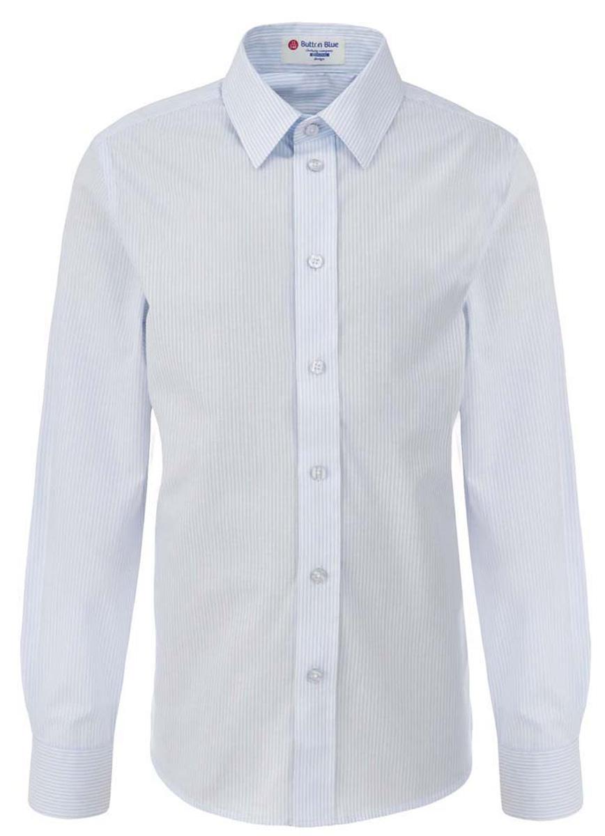 Рубашка для мальчика Button Blue, цвет: белый, светло-голубой. 217BBBS23010205. Размер 158, 13 лет217BBBS23010205Рубашка для мальчика - основа повседневного школьного образа! Школьные рубашки от Button Blue - это качество и комфорт, отличный внешний вид, удобство в уходе, высокая износостойкость. Рубашка с длинными рукавами и отложным воротничком застегивается на пуговицы. Готовясь к школьному сезону, вам стоит купить рубашки в трех-четырех цветах, чтобы разнообразить будни ученика.