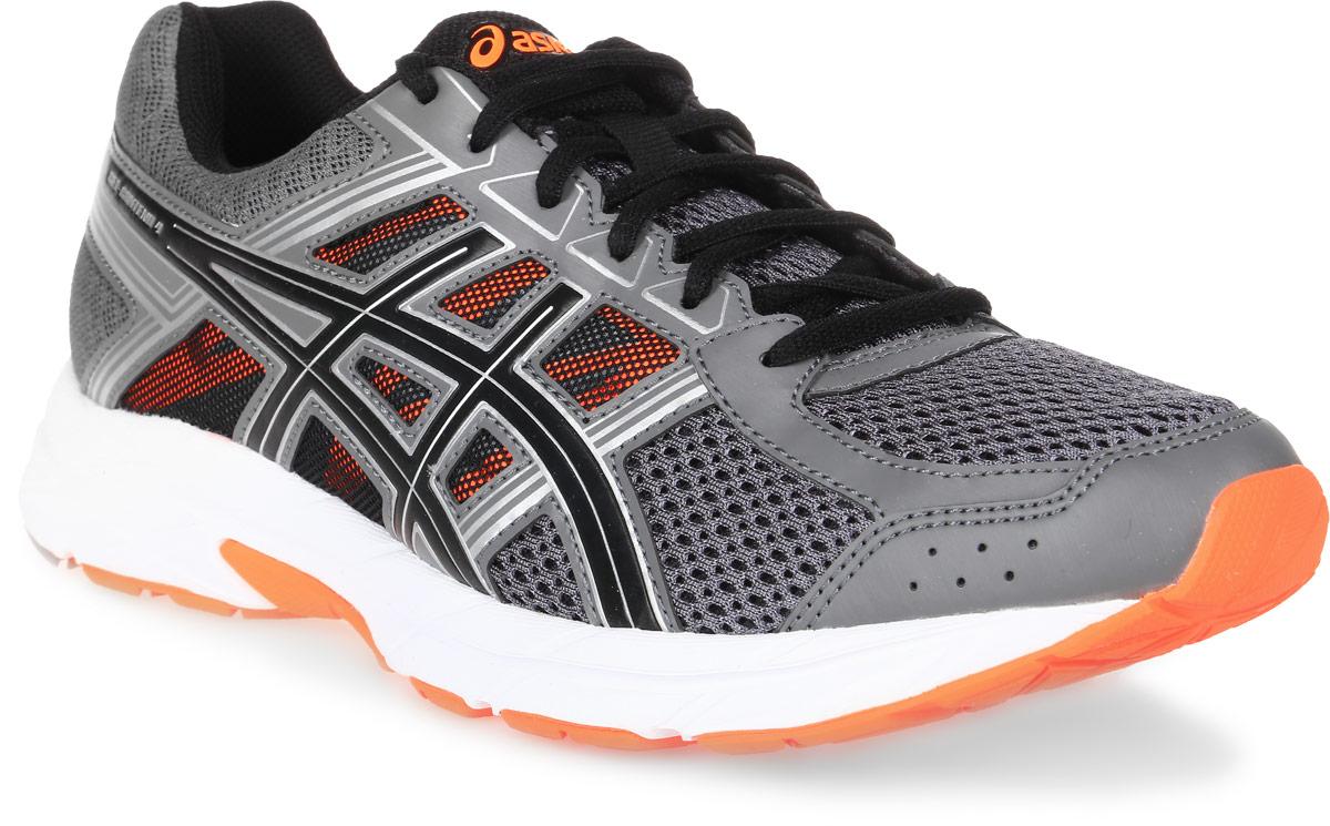 Кроссовки для бега мужские Asics Gel-Contend 4, цвет: серый, оранжевый. T715N-9790. Размер 8 (40)T715N-9790Беговые кроссовки Asics Gel-Contend 4 - модель, обладающая отличной амортизацией, разработана для спортсменов с нейтральной пронацией. 3М Reflective. Светоотражающие элементы обеспечивают безопасность при условиях плохой видимости. Съемную стельку при необходимости можно заменить на ортопедическую. SpEVA. Промежуточная подошва изготовлена из вспененного материала для поглощения вибраций, способствует скорейшему восстановлению после сжатия и уменьшает вероятность пробоя промежуточной подошвы. Система амортизации Asics Gel. Вставка Asics Gel в задней части промежуточной подошвы снижает нагрузку на ноги и позвоночник спортсмена. Californian Slip Lasting. Колодка Калифорния, верх которой прострочен и соединен со средней подошвой, обеспечивает стабильность и комфорт.