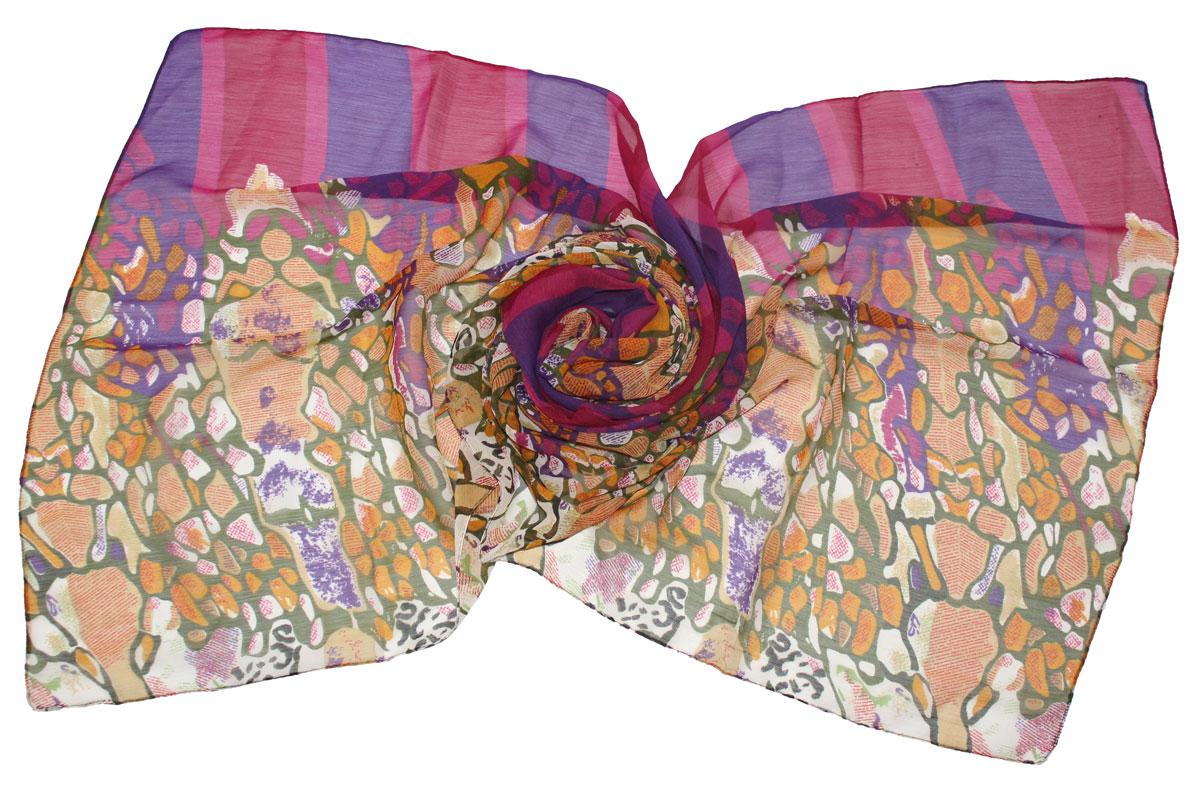 Шарф женский Ethnica, цвет: горчичный, мультиколор. 262040. Размер 50 см х 170 см262040Стильный шарф привлекательной расцветки изготовлен из 100% вискозы. Он удачно дополнит ваш гардероб и поможет создать новый повседневный образ, добавить в него яркие краски. Отличный вариант для тех, кто стремится к самовыражению и новизне!