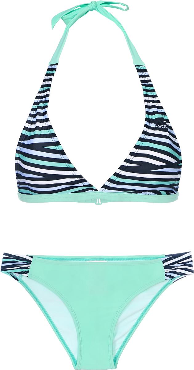 Купальник раздельный женский Adidas, цвет: зеленый. BJ9798. Размер 36 (44)BJ9798Раздельный купальник Adidas обеспечит тебе неотразимый образ во время купания. Специальная технология производства придает приятное ощущение мягкости и комфорта, а также дает возможность настроить нужную поддержку.