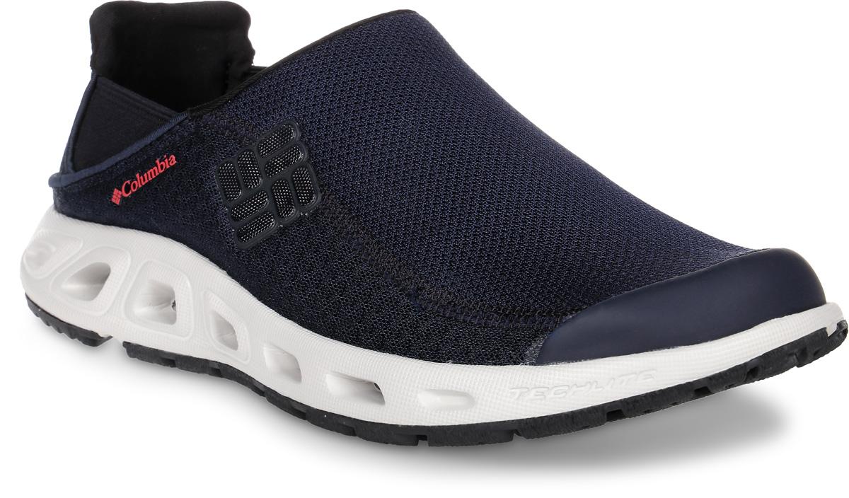 Кроссовки мужские Columbia Ventslip II, цвет: темно-синий. 1619991-439. Размер 12 (46,5)1619991-439Водные мужские кроссовки Ventslip II от Columbia прекрасно подойдут для активного отдыха.Верх модели выполнен из быстросохнущей текстильной сетки с защитой мыса и усиленным бампером и оформлен логотипом и названием бренда. Модель фиксируется на ноге благодаря эластичным вставкам.Подкладка исполнена из текстиля. Анатомическая стелька из мягкого ЭВА-материала позволяет ногам чувствовать себя наиболее комфортно.Промежуточная подошва из материала Techlite обеспечивает отличную амортизацию и поддержку. Дренажная подошва обеспечивает вентиляцию и отток воды. Подметка выполнена из резины Omni-Grip, разработанной специально для ходьбы по влажным поверхностям. Такие кроссовки подойдут для активного отдыха как на суше, так и в воде, и у воды.