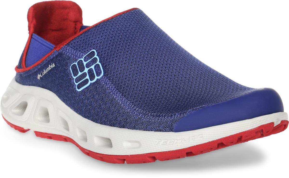Кроссовки женские Columbia Ventslip II, цвет: синий. 1620001-508. Размер 9,5 (41)1620001-508Стильные кроссовки Ventslip II от Columbia - прекрасно подойдут для активного отдыха.. Модель изготовлена из полиэстера и декорирована вставкой из синтетической кожи на носке. Боковая сторона изделия украшена названием и логотипом бренда, задник - логотипом бренда. Воздухопроницаемая сетка верха и вентиляционные отверстия в подошве образуют воздушный поток и обеспечивают дренаж. Стрейчевые вставки по бокам обеспечивают оптимальную посадку модели на ноге.Стелька из легкого ЭВА с перфорацией позволяет ногам дышать. Подошва с рифленым протектором защищает изделия от скольжения. Резина Omni-Grip, используемая в материале подметки, разработана специально для ходьбы по пересеченной местности.Кроссовки Ventslip II от Columbia - правильный выбор активных женщин!