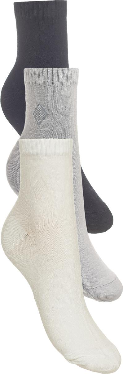 Носки детские Baykar, цвет: белый, светло-серый, серый, 3 пары. 281512-22. Размер 16,5/18, 5 лет281512-22Детские носки Baykar изготовлены из высококачественного эластичного хлопка с добавлением полиамида. Носки имеют эластичную резинку, которая надежно фиксирует носки на ноге. В комплект входит 3 пары носков.