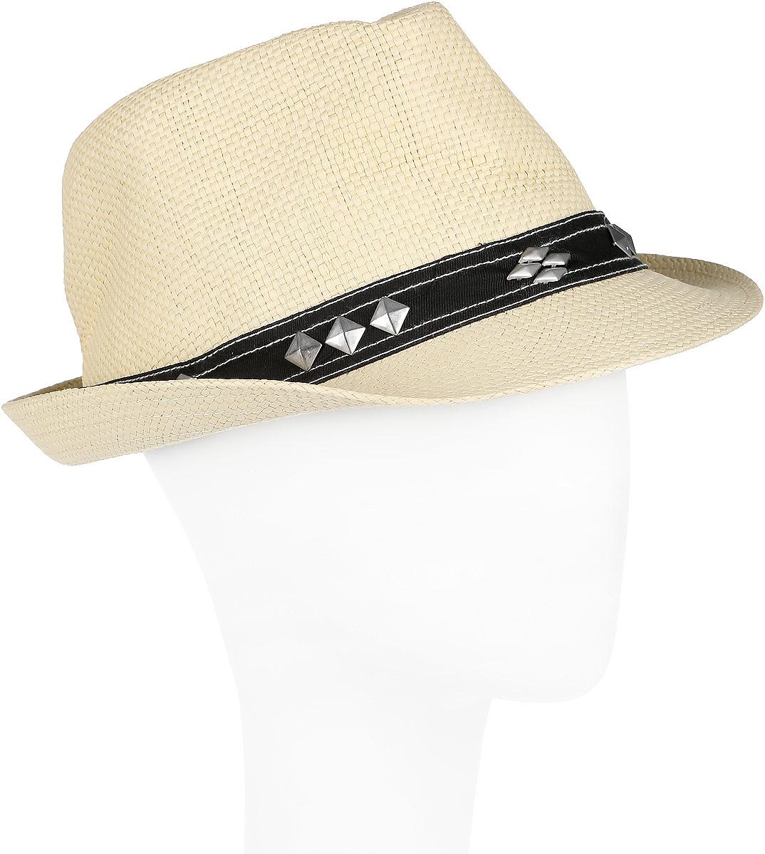 Шляпа мужская Canoe Sam, цвет: светло-бежевый. 1962100. Размер 591962100Летняя шляпа Canoe Sam имеет оригинальную фактуру и непременно украсит любой наряд.Шляпа из искусственной соломы декорирована ковбойской лентой с металлическими элементами вокруг тульи. Благодаря своей форме, шляпа удобно садится по голове и подойдет к любому стилю. Шляпа легко восстанавливает свою форму после сжатия. Такая шляпа подчеркнет вашу неповторимость и дополнит ваш повседневный образ.