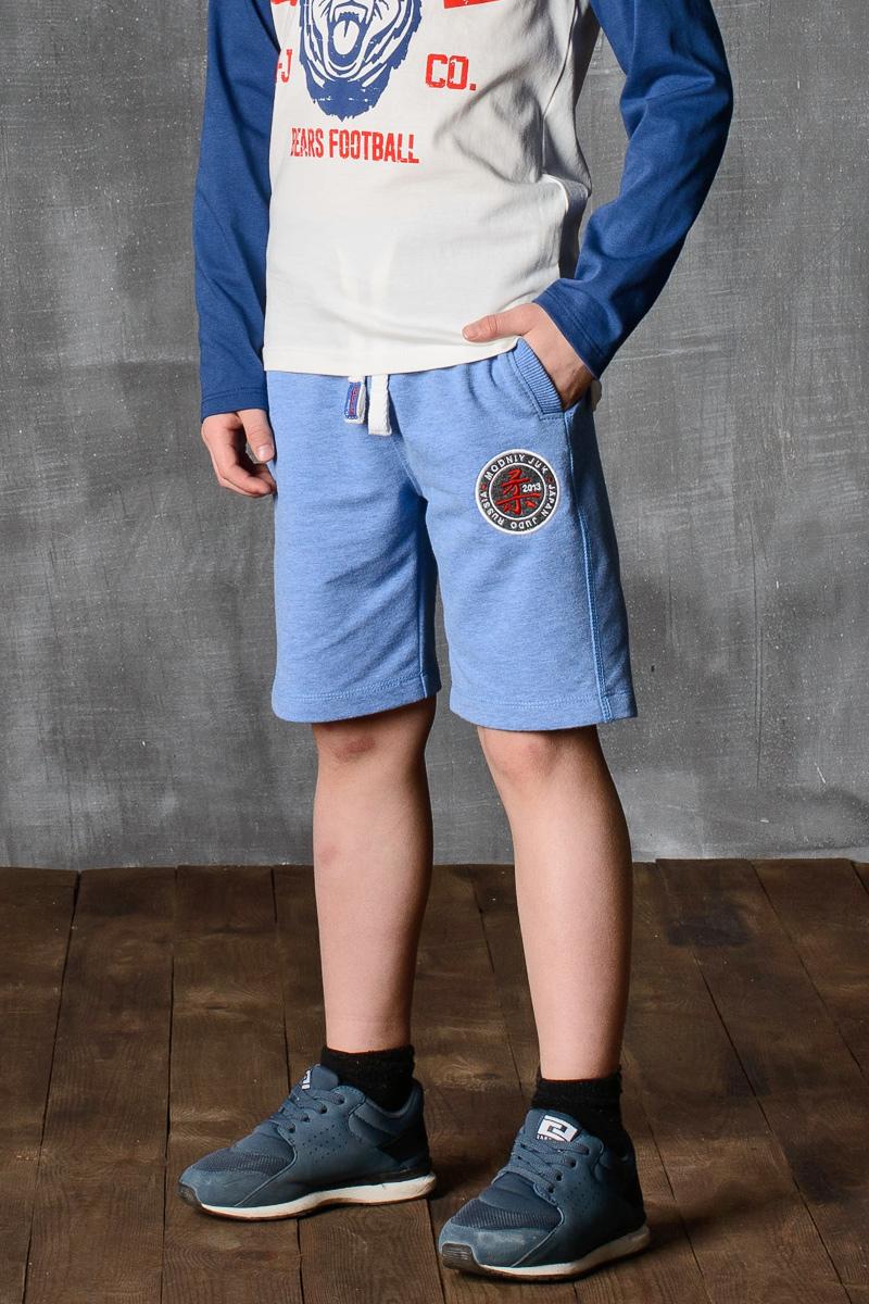 Шорты для мальчика Modniy Juk, цвет: светло-голубой. 10B00010400. Размер 122/12810B00010400/JUDO/Шорты для мальчика Modniy Juk изготовлены из высококачественного износостойкого мягкого трикотажа, он приятный на ощупь, не раздражает нежную и чувствительную кожу ребенка, позволяя ей дышать. Модель с поясом из трикотажной резинки дополнена шнурком, надежно фиксирует шорты и не сдавливает живот ребенка. Изделие имеет прямой крой, длина по колено, манжеты из трикотажной резинки, передние боковые карманы с листочками. Шорты дополнены яркой вышивкой в стиле Modniy Juk.