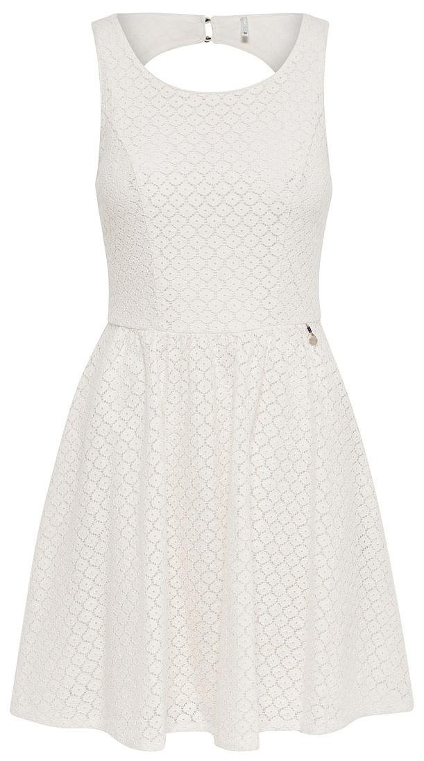 Платье женское Only, цвет: белый. 15114482_Whisper White. Размер 42 (48)15114482_Whisper WhiteСтильное платье Only, выполненное из высококачественного материала, прекрасный вариант для модных женщин, желающих подчеркнуть свою индивидуальность и хороший вкус. Модель без рукавов, с круглым вырезом горловины и открытой спиной сзади застегивается на две пуговице.Красивое и необычное платье сделает вас неотразимой и потрясающей.