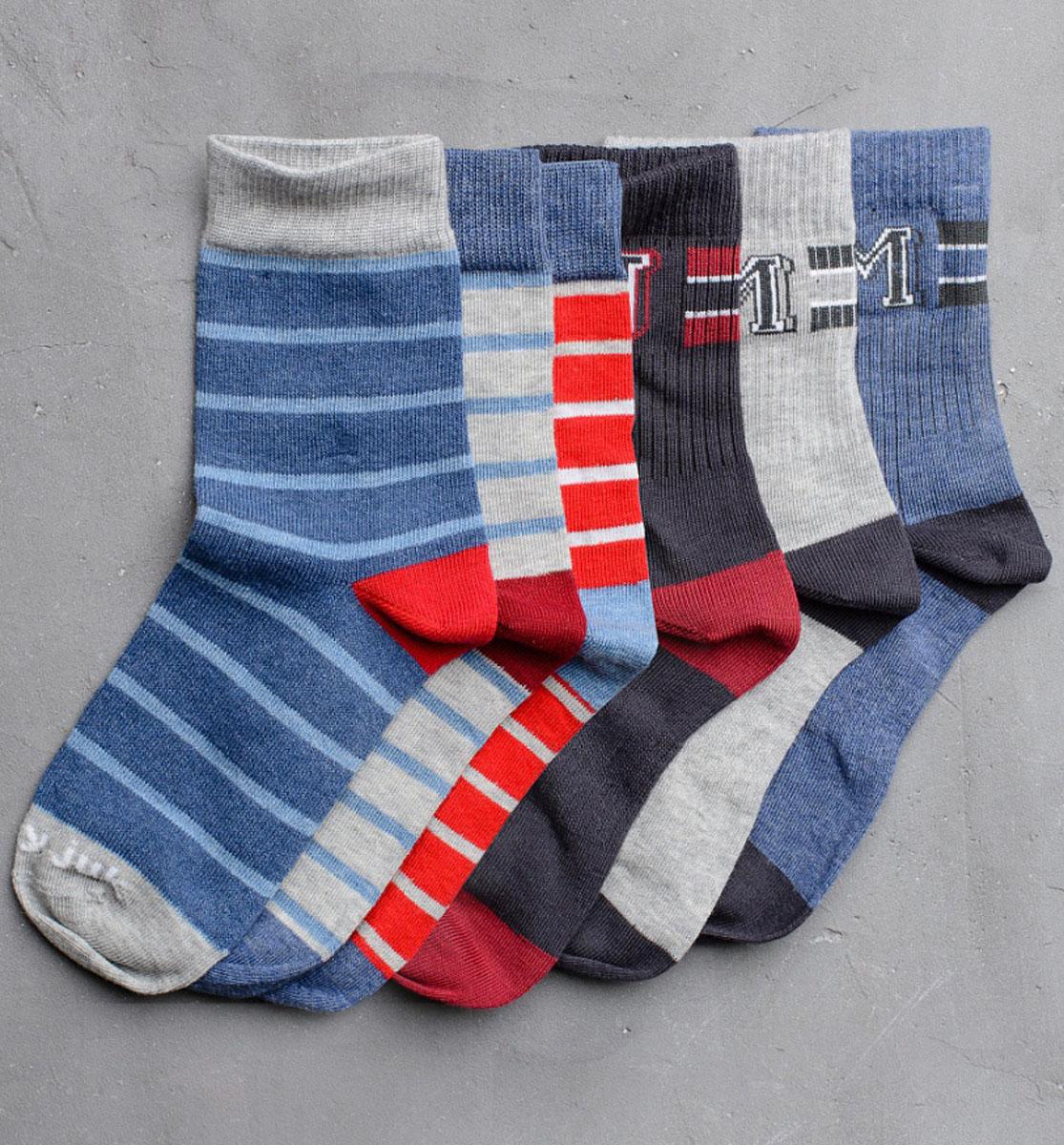 Носки для мальчика Modniy Juk, цвет: мультиколор. Socks 22/Logo. Размер 16/18Socks 22/Logo/Стильные носки для мальчика Modniy Juk изготовлены из высококачественного материала, они приятны на ощупь, не раздражают нежную и чувствительную кожу ребенка, позволяя ей дышать. Модель отлично облегает стопу. Усиленный мысок и пятка продлят срок эксплуатации. Изделие дополнено логотипом в стиле Modniy Juk.