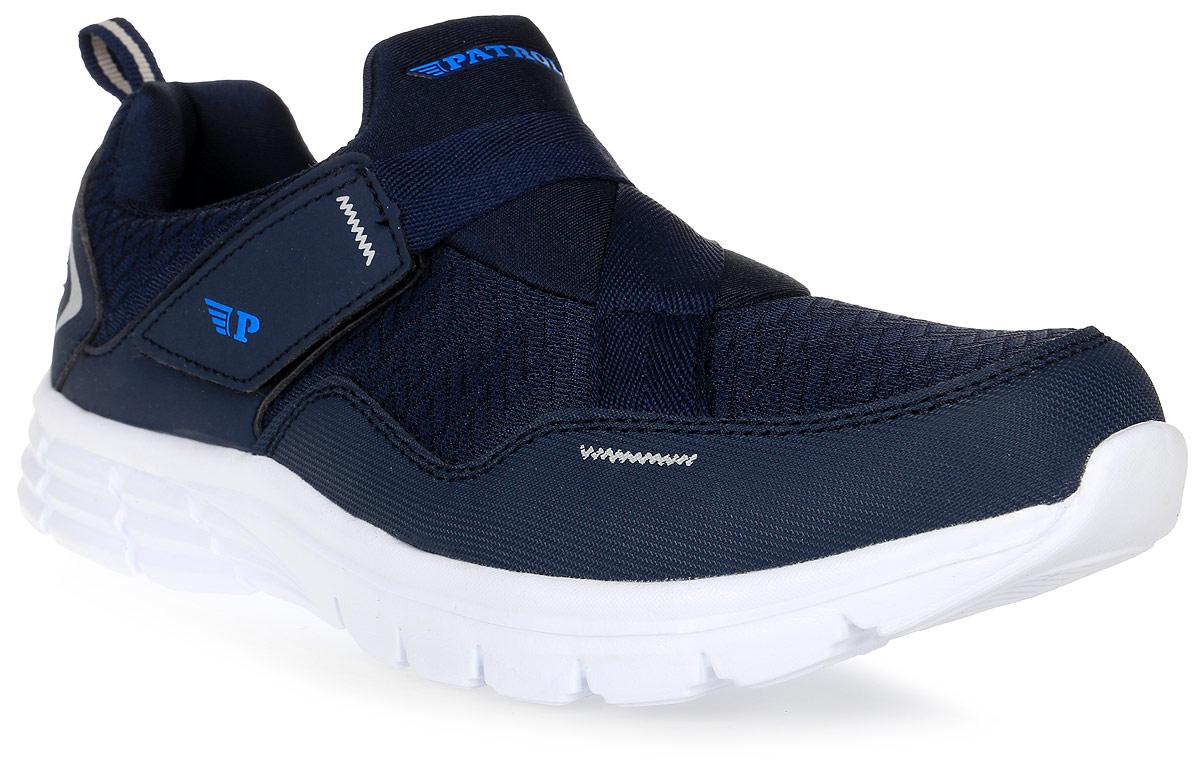 Кроссовки для мальчика Patrol, цвет: темно-синий. 763-007T-17s-8/01-16. Размер 41763-007T-17s-8/01-16Стильные кроссовки от Patrol - отличный выбор для вашего мальчика на каждый день. Верх модели выполнен из плотного текстиля искусственной кожи.Ремешок с липучкой на подъеме обеспечивает надежную фиксацию обуви на ноге. Подкладка и стелька из текстильного материала создают комфорт при носке. Подошва выполнена из легкого пенопропилена.Рифление на подошве обеспечивает отличное сцепление с любой поверхностью.Модные и комфортные кроссовки - необходимая вещь в гардеробе каждого ребенка.