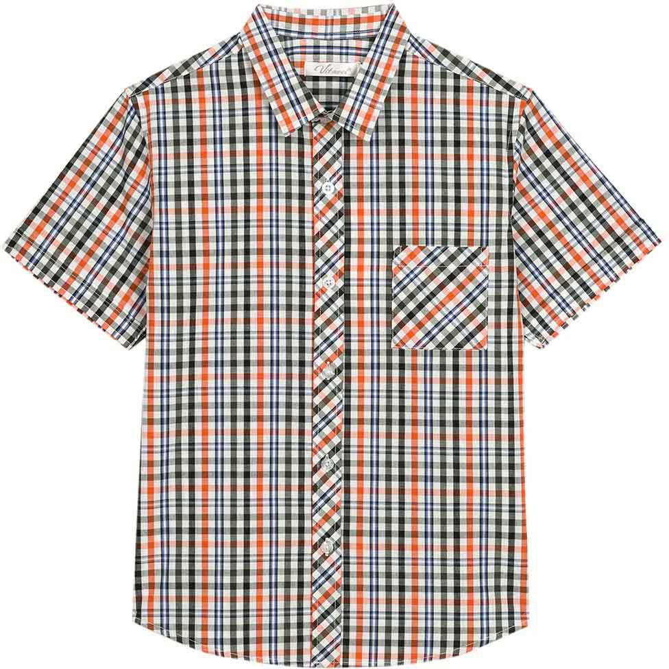 Рубашка для мальчика Vitacci, цвет: синий, белый. 1172110-04. Размер 1461172110-04Модная клетчатая рубашка с коротким рукавом из высококачественного хлопка будет удачным выбором для мальчика-подростка. Отлично сочетается с джинсами и джинсовыми шортами.