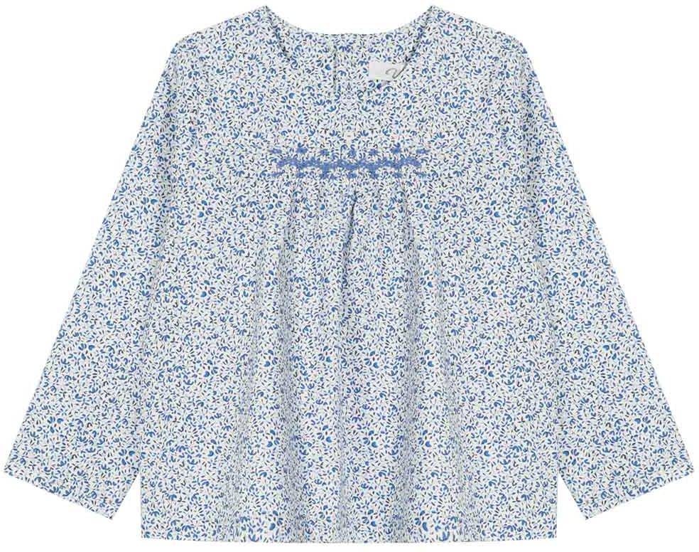 Туника для девочки Vitacci, цвет: синий. 2172008-04. Размер 1222172008-04Свободная туника из высококачественного хлопка понравится маленьким модницам, идеально сочетается с джинсами.