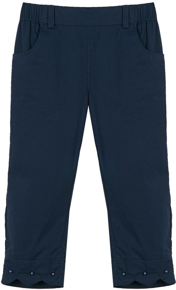 Брюки для девочки Vitacci, цвет: синий. 2172053-04. Размер 1222172053-04Удобные летние брюки для девочки подойдут на все случаи жизни.