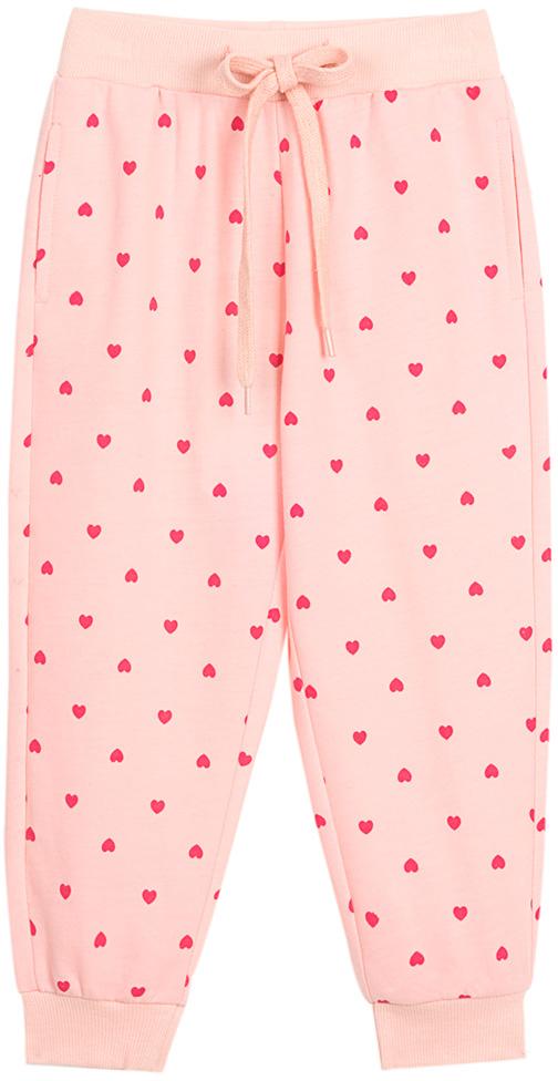 Брюки для девочки Vitacci, цвет: розовый. 2172127-11. Размер 1282172127-11Удобные трикотажные брюки свободного кроя - отличная модель для отдыха на природе и занятий спортом.