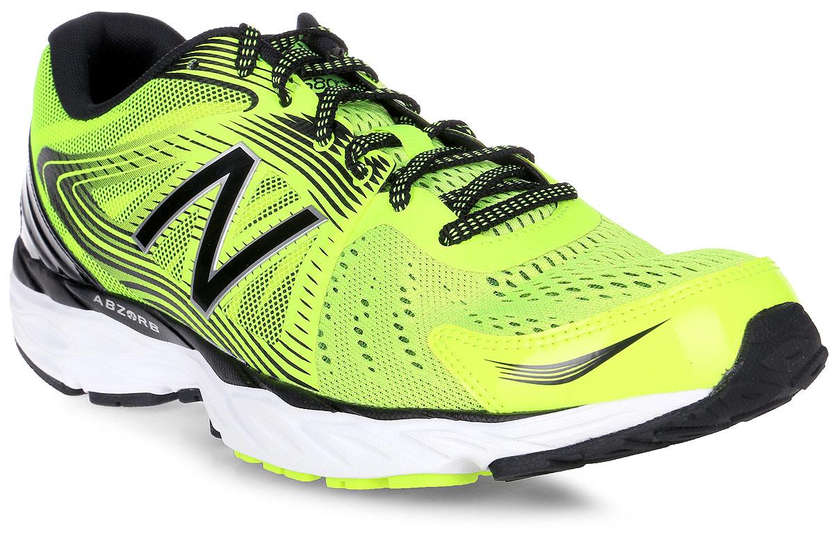 Кроссовки для бега мужские New Balance 680, цвет: салатовый, черный. M680LY4/D. Размер 9,5 (43)M680LY4/DМужские кроссовки для бега от New Balance выполнены из высококачественного материала. На язычке изделие оформлено фирменным логотипом. Шнуровка надежно фиксирует обувь на ноге. Подкладка и стелька из текстиля, обеспечат комфорт и уют, вашим ногам. Рельефный рисунок подошвы предотвращает скольжение. В таких кроссовках вашим ногам будет комфортно и уютно. Они подчеркнут ваш стиль и индивидуальность!