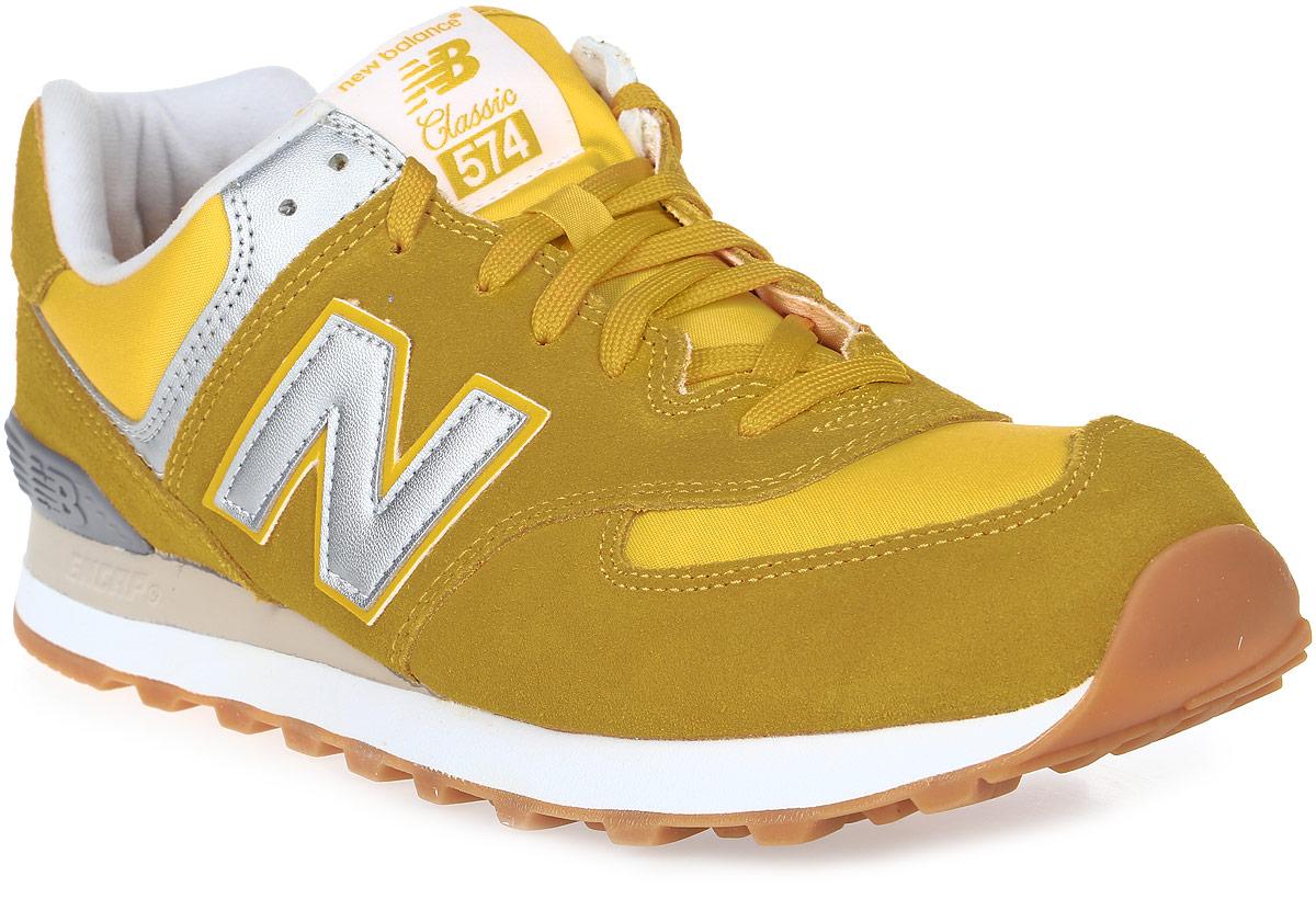 Кроссовки мужские New Balance 574, цвет: желтый. ML574HRK/D. Размер 9,5 (43)ML574HRK/DСтильные мужские кроссовки от New Balance придутся вам по душе. Верх модели выполнен из высококачественныхматериалов. По бокам обувь оформлена,декоративными элементами в виде фирменного логотипа бренда, на язычке - фирменной нашивкой, задник логотипом бренда. Классическая шнуровка надежно зафиксирует изделие на ноге. Мягкая верхняя часть и стелька, изготовленные из текстиля, гарантируют уют и предотвращают натирание. Подошва оснащена рифлением для лучшей сцепки с поверхностями. Удобные кроссовки займут достойное место среди коллекции вашей обуви.