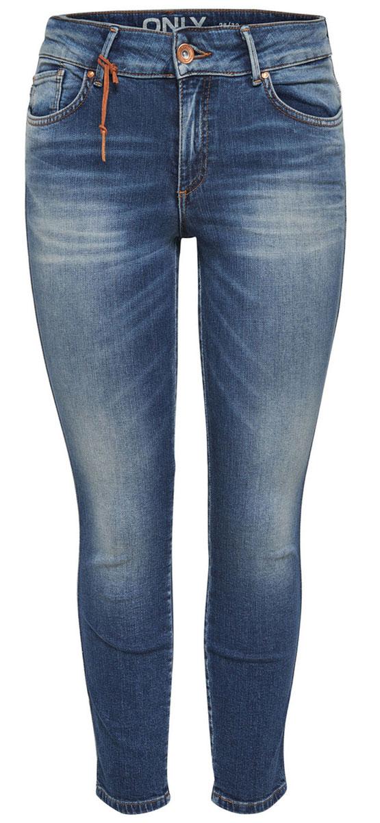 Джинсы женские Only, цвет: темно-синий. 15134523_Dark Blue Denim. Размер 25-32 (40/42-32)15134523_Dark Blue DenimСтильные женские джинсы Only - это джинсы высокого качества, которые прекрасно сидят. Они обеспечивают комфорт и удобство при носке. Прямые джинсы-скинни станут отличным дополнением к вашему современному образу. Джинсы застегиваются на пуговицу в поясе и ширинку на застежке-молнии, имеются шлевки для ремня. Джинсы имеют классический пятикарманный крой: спереди модель оформлена двумя втачными карманами и одним маленьким накладным кармашком, а сзади - двумя накладными карманами.Эти модные и в тоже время комфортные джинсы послужат отличным дополнением к вашему гардеробу.