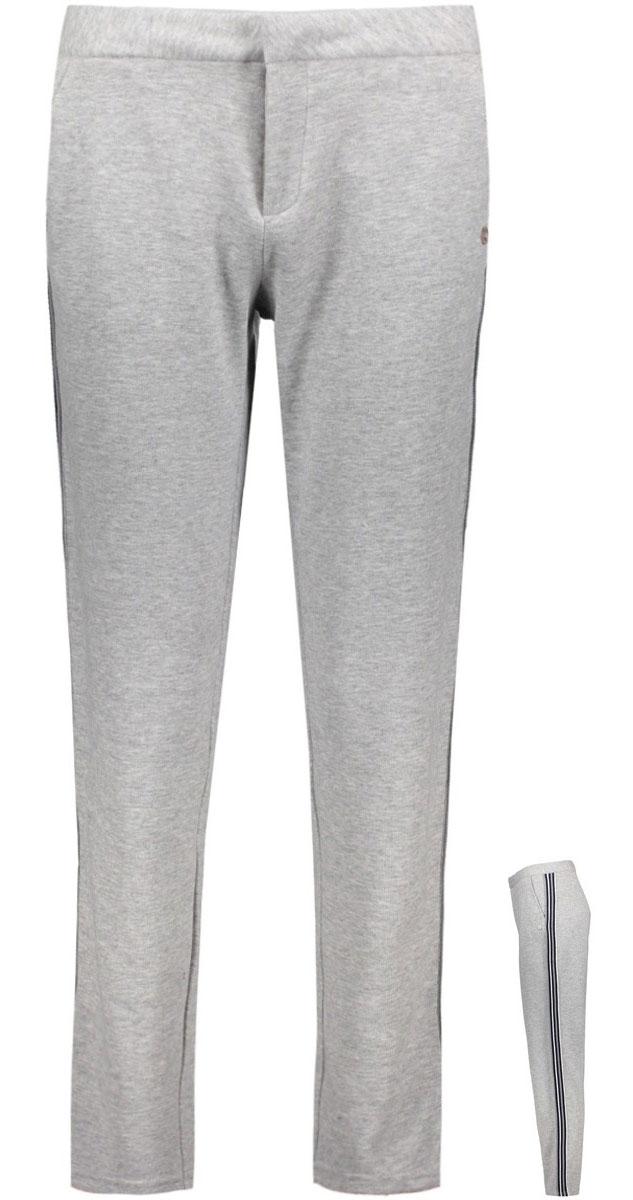 Брюки женские Only, цвет: серый. 15135676_Light Grey Melange. Размер 40 (46)15135676_Light Grey MelangeСпортивные брюки Only зауженного кроя. Модель выполнена из плотного трикотажа. Застежка на крючок и молнию, два внешних кармана, имитация карманов сзади.