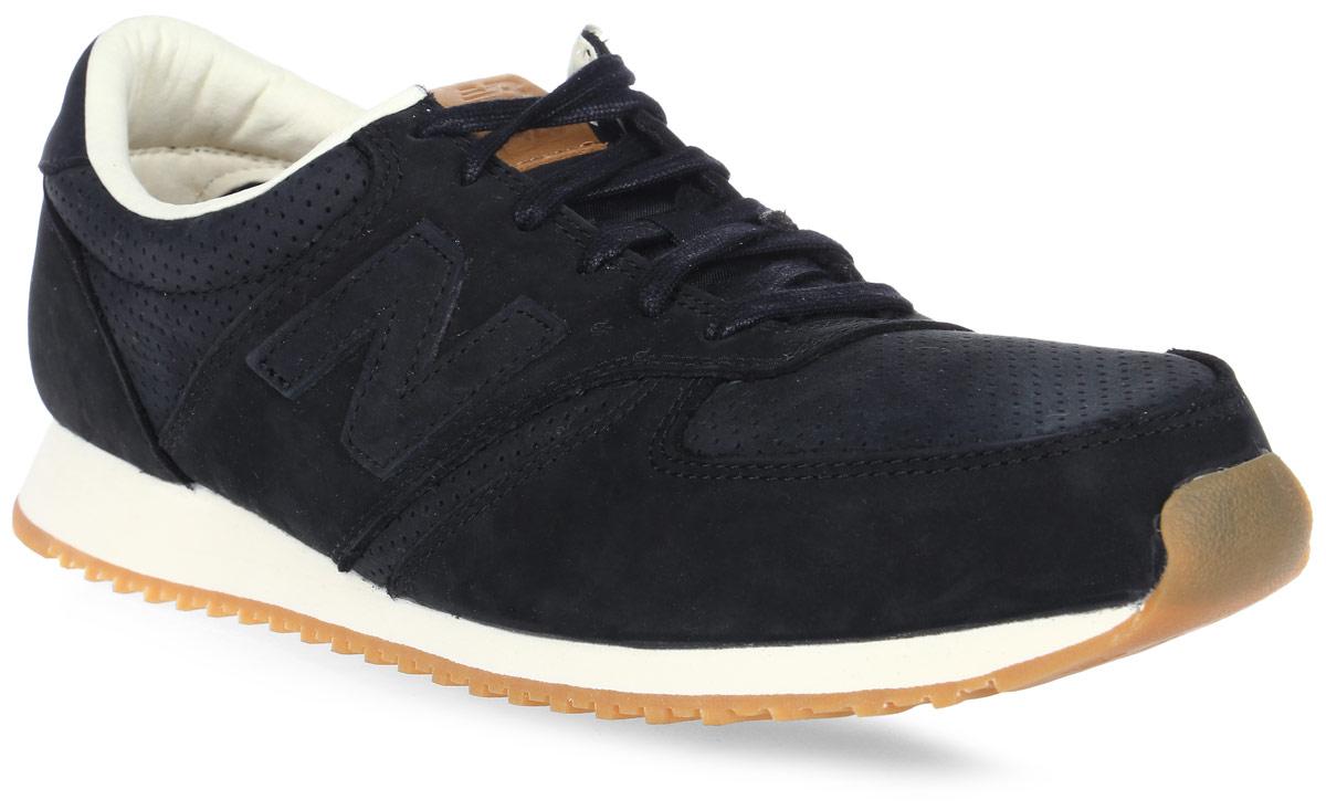 Кроссовки мужские New Balance 420, цвет: черный. U420NKT/D. Размер 10 (44)U420NKT/DСтильные мужские кроссовки от New Balance придутся вам по душе. Верх модели выполнен из хлопка и натуральной замши, и дополнен перфорацией. По бокам обувь оформлена декоративными элементами в виде фирменного логотипа бренда, на язычке - фирменной нашивкой, задник логотипом бренда. Классическая шнуровка надежно зафиксирует изделие на ноге. Подкладка и стелька, изготовленные из текстиля, гарантируют уют и предотвращают натирание. Подошва оснащена рифлением для лучшей сцепки с поверхностями. Удобные кроссовки займут достойное место среди коллекции вашей обуви.
