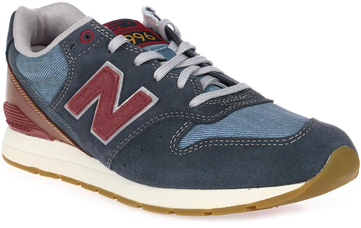 Кроссовки мужские New Balance 996, цвет: синий, коричневый. MRL996NF/D. Размер 10 (44)MRL996NF/DСтильные мужские кроссовки от New Balance придутся вам по душе. Верх модели выполнен из высококачественныхматериалов и дополнена контрастной прострочкой. По бокам обувь оформлена, декоративными элементами в виде фирменного логотипа бренда, на язычке - фирменной нашивкой, задник логотипом бренда. Классическая шнуровка надежно зафиксирует изделие на ноге. Мягкая верхняя часть и стелька, изготовленные из текстиля, гарантируют уют и предотвращают натирание. Подошва оснащена рифлением для лучшей сцепки с поверхностями. Удобные кроссовки займут достойное место среди коллекции вашей обуви.
