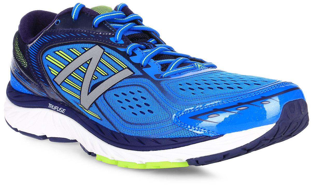Кроссовки для бега мужские New Balance 860, цвет: синий, голубой. M860BY7/D. Размер 8,5 (42)M860BY7/DМужские кроссовки для бега от New Balance выполнены из высококачественного материала. На язычке изделие оформлено фирменным логотипом. Шнуровка надежно фиксирует обувь на ноге. Подкладка и стелька из текстиля, обеспечат комфорт и уют вашим ногам. Рельефный рисунок подошвы предотвращает скольжение. В таких кроссовках вашим ногам будет комфортно и уютно. Они подчеркнут ваш стиль и индивидуальность!
