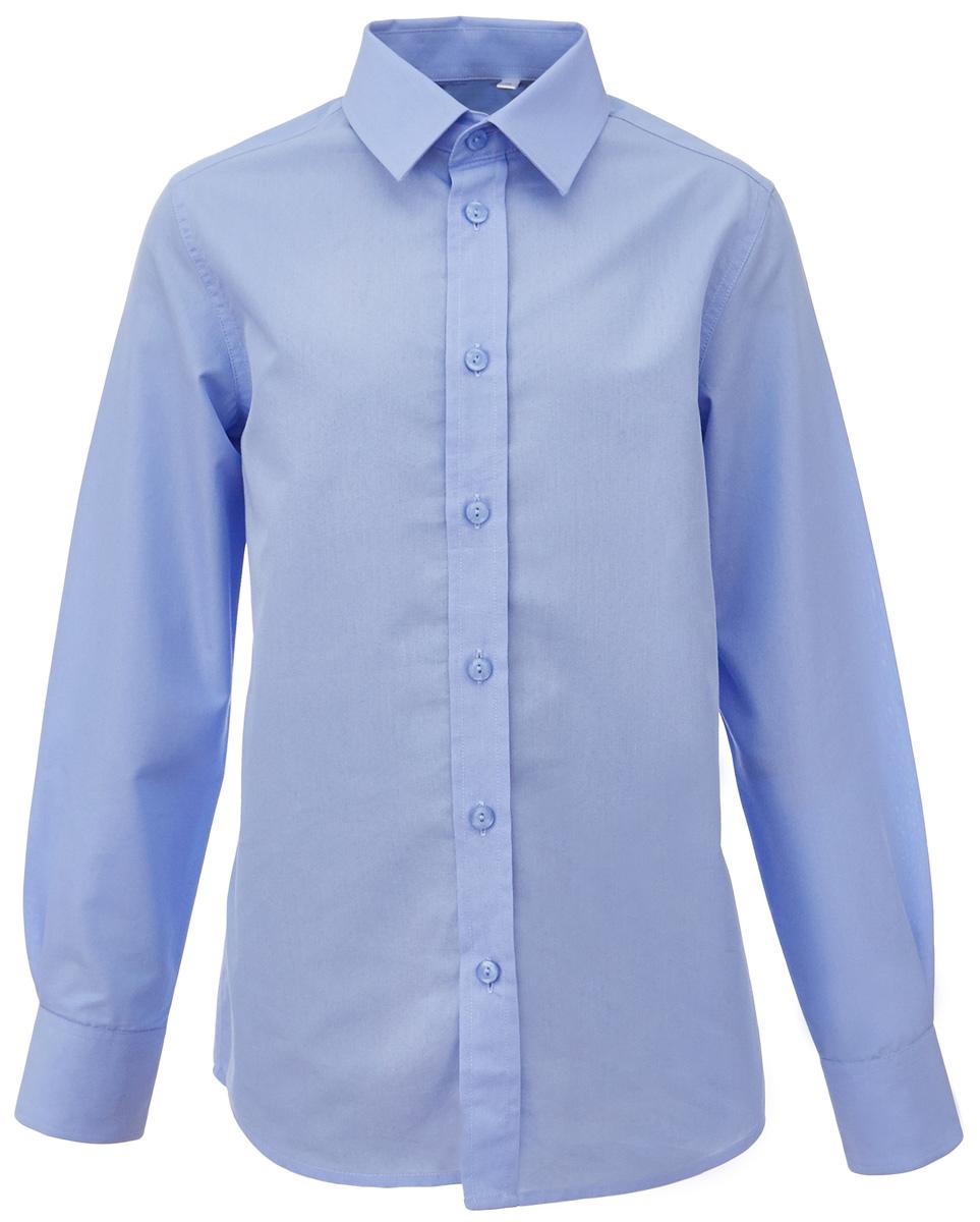 Рубашка для мальчика Gulliver, цвет: голубой. 217GSBC2301. Размер 170217GSBC2301Школьная рубашка - классика жанра! Строгая, лаконичная, элегантная рубашка для школы настроит на серьезный и ответственный подход к делу. Хороший состав, качество и текстура ткани, модный силуэт, актуальная форма воротника делают рубашку отличным решением на каждый день, позволяющим ребенку чувствовать себя уверенно и достойно. Если вы хотите купить рубашку для ежедневного комфорта и отличного внешнего вида ребенка, детская рубашка от Gulliver- лучшее решение. Она сделает образ ученика стильным, свежим, интересным.