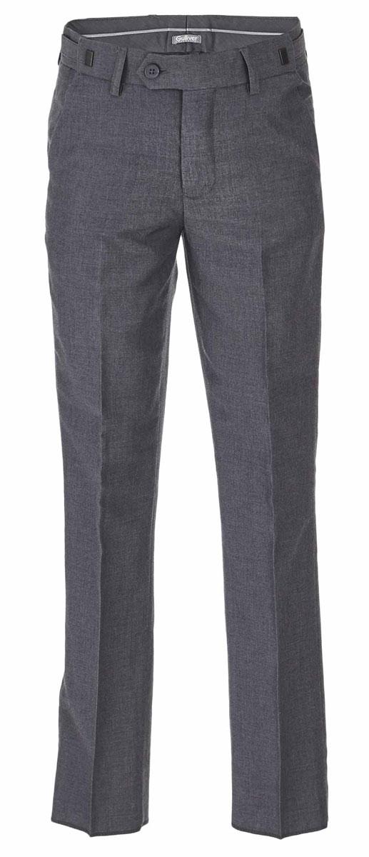 Брюки для мальчика Gulliver, цвет: серый. 217GSBC6303. Размер 158217GSBC6303Классические брюки для мальчика - основа повседневного школьного гардероба. В сочетании с любым верхом, они смотрятся строго, настраивая на деловую волну. Хороший состав и качество ткани обеспечивают брюкам достойный внешний вид, долговечность и неприхотливость в уходе. Школьные брюки для мальчика имеют удобную регулировку пояса, создающую комфортную посадку изделия на любой фигуре.