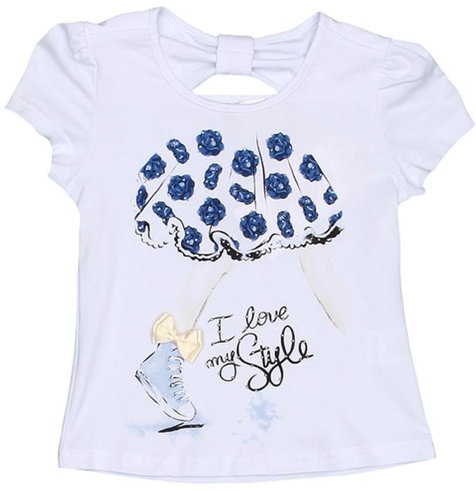 Футболка для девочки Vitacci, цвет: белый. 2152321-04. Размер 1162152321-04Замечательная футболка для маленькой модницы с оригинальным принтом отлично подойдет как для прогулки, так и для праздничного мероприятия.