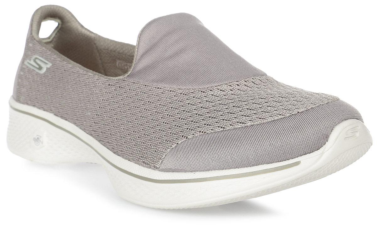 Кроссовки женские Skechers Go Walk 4 - Pursuit, цвет: бежевый. 14148-TPE. Размер 6 (36)14148-TPEЖенские кроссовки от Skechers предназначены для ходьбы и занятий спортом. Новая инновационная подошва Resalyte Flex, которая используется в этой обуви, обеспечивает максимальную гибкость при ходьбе. В этой модели также применяется стелька GOGA Mat, они обладает хорошим амортизационным качеством и обработана биоцидом для борьбы с микробами, вызывающими специфический запах. В подметке обуви установлены специальные выступы Mini GO impulse sensors, которые гарантируют превосходное сцепление с поверхностью. Бесшовный верх обуви выполнен из очень легкого, тянущегося и хорошо вентилируемого текстиля Supersocks, благодаря которому обувь идеально сидит на ноге.
