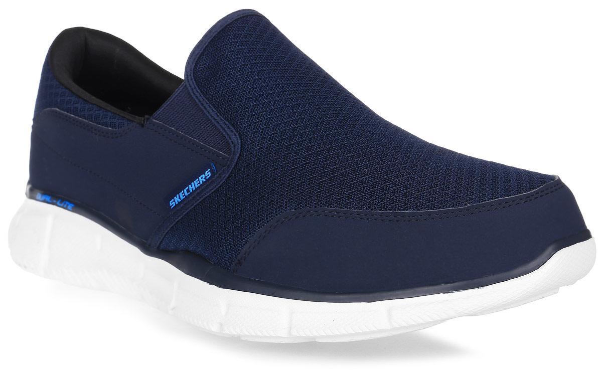 Кроссовки мужские Skechers Equalizer - Persistent, цвет: синий. 51361-NVY. Размер 11,5 (46)51361-NVYСтильные мужские кроссовки Skechers отлично подойдут для активного отдыха и повседневной носки. Верх модели выполнен из текстиля. Благодаря эластичным вставкам на подъеме кроссовки удобно надевать. Подошва обеспечивает легкость и естественную свободу движений. Мягкие и удобные, кроссовки превосходно подчеркнут ваш спортивный образ и подарят комфорт.