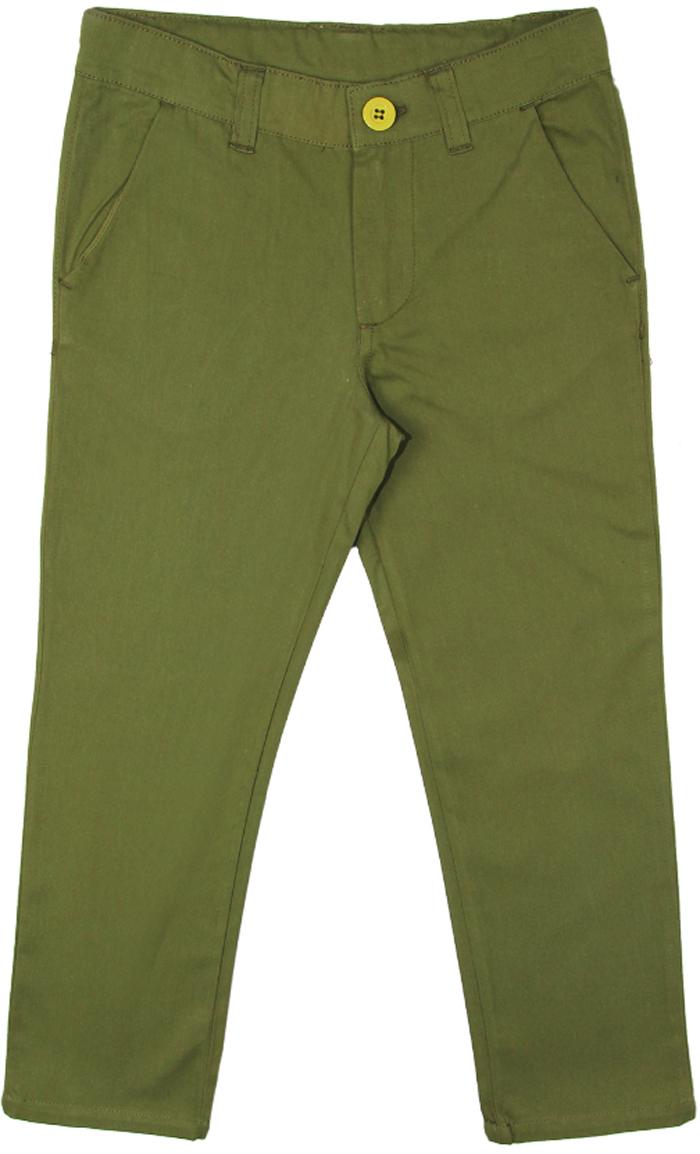 Брюки для мальчика Cherubino, цвет: темно-зеленый. CK 7T056 (147). Размер 110CK 7T056 (147)Брюки для мальчика Cherubino изготовлены из натурального хлопка. Модель застегивается на молнию и пуговицу и дополнена карманами.