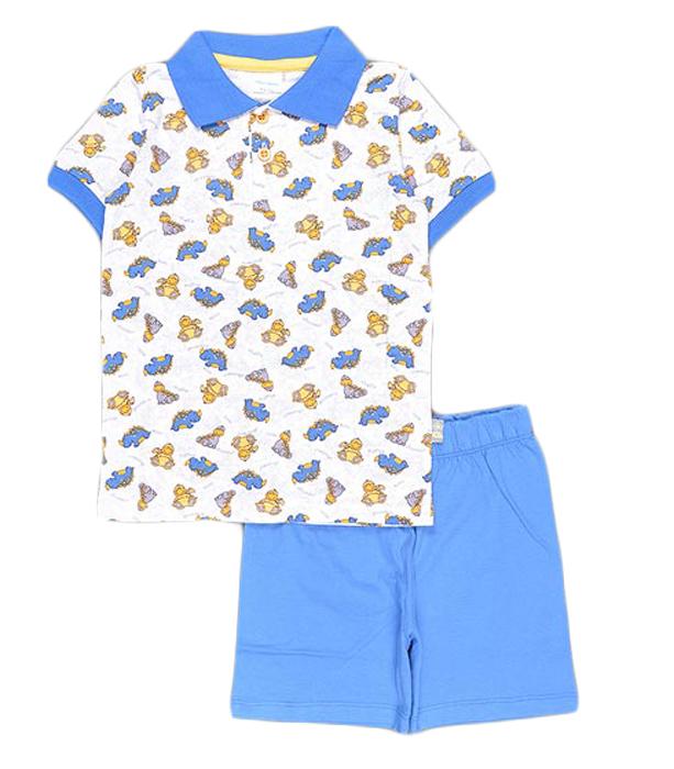 Комплект для мальчика Cherubino: джемпер, шорты, цвет: синий. CSB 9237 (20). Размер 80CSB 9237 (20)Комплект для мальчика Cherubino послужит идеальным дополнением к гардеробу вашего крохи, состоит из набивной футболки-поло и гладкокрашенных шорт. Комплект очень мягкий и легкий, не раздражает нежную кожу ребенка и хорошо вентилируется.