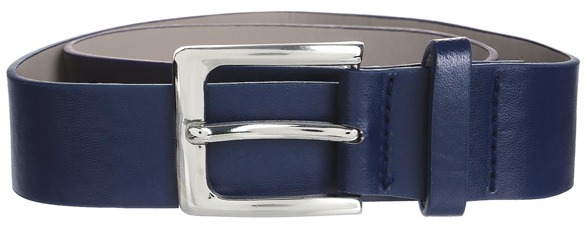 Ремень для мальчика Scool, цвет: темно-синий. 373715. Размер 78373715Ремень для мальчика выполнен из качественного полиуретана. Пряжка овальной формы выполнена из металла.