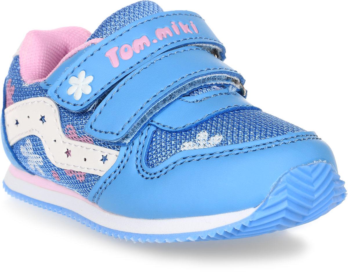 Кроссовки для девочки Tom&Miki, цвет: голубой. B-1051. Размер 21B-1051-BКроссовки для девочки Tom&Miki изготовлены из качественной искусственной кожи и текстиля. Липучки надежно зафиксируют обувь на ноге. Мягкая подкладка выполнена из кожи и текстиля. Подошва оснащена рифлением для лучшего сцепления с различными поверхностями. Такие кроссовки - отличный вариант на каждый день.