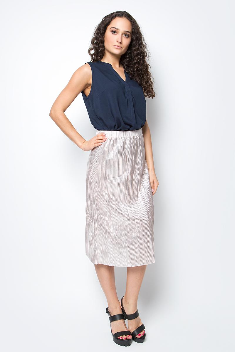 Юбка Tom Tailor, цвет: бежево-розовый. 5513494.00.71_1000. Размер XS (42)5513494.00.71_1000Модная юбка Tom Tailor выполнена из 100% полиэстера. Юбка-миди с гофрированными складками на талии дополнена широким поясом на резинке.Эта стильная юбка послужит отличным дополнением к вашему гардеробу.