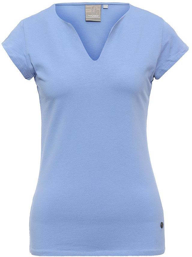 Футболка женская Icepeak, цвет: синий. 754723591IV. Размер 36 (42)754723591IVСтильная футболка Icepeak изготовлена из натурального хлопка с добавлением эластана. Модель прямого кроя выполнена с V-образной горловиной и короткими рукавами.