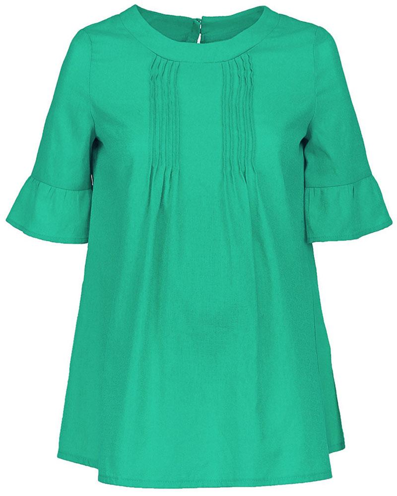 Блузка для беременных и кормящих Mammy Size, цвет: зеленый. 102339. Размер 46102339Блузка для беременных и кормящих Mammy Size выполнена из натурального хлопка. Модель с короткими рукавами на спинке застегивается на пуговицы. Благодаря свободному крою позволяет коже чувствовать себя комфортно даже в самый жаркий день.