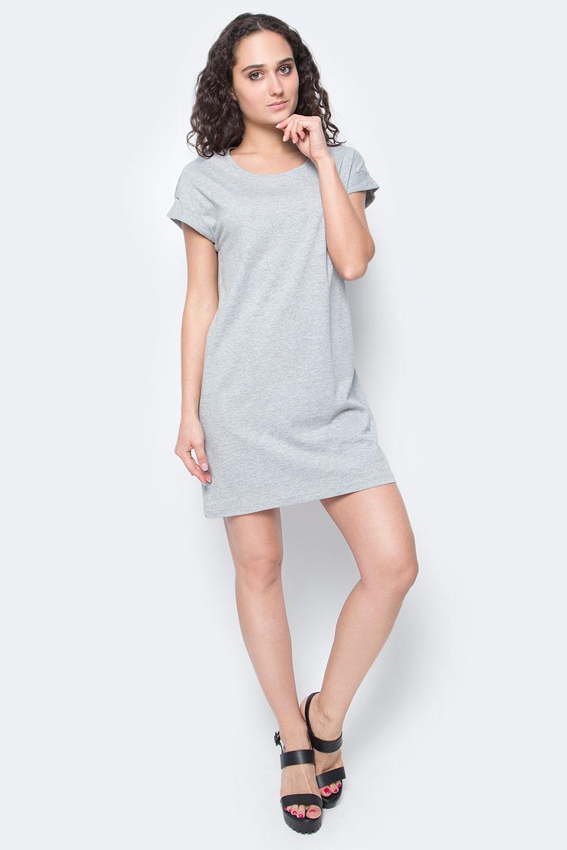 Платье Only, цвет: серый. 15136860_Light Grey Melange. Размер M (46)15136860_Light Grey MelangeЖенское повседневное платье Only изготовлено из мягкого трикотажа, послужит идеальным дополнением к вашему гардеробу.