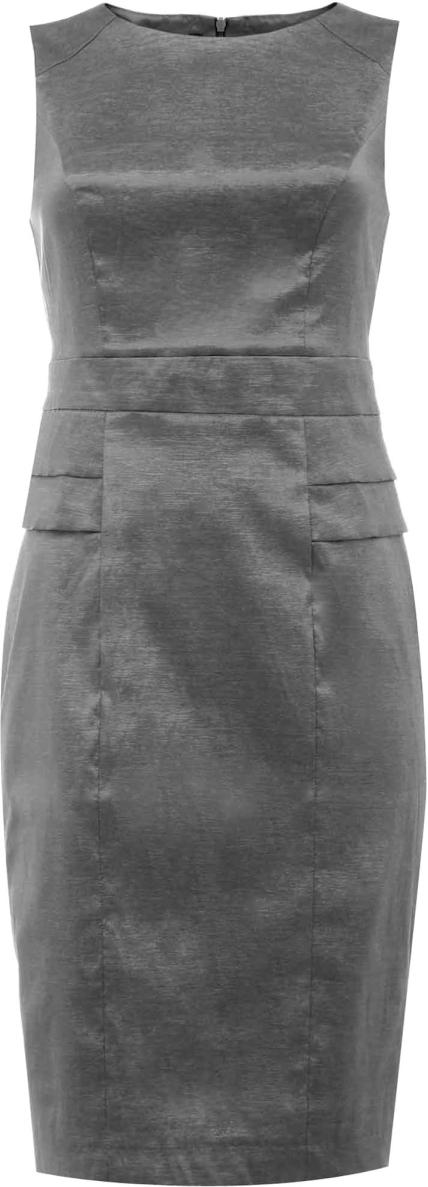 Платье жен oodji Collection, цвет: темно-серый. 21907028/24493/2500N. Размер 36-170 (42-170)21907028/24493/2500NПлатье
