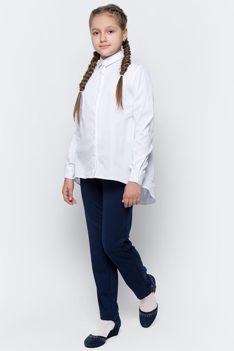 Блузка для девочки Button Blue, цвет: белый. 217BBGS22010200. Размер 152, 12 лет217BBGS22010200Блузка для девочки - основа повседневного школьного образа! Актуальная трапециевидная форма, удлиненная линия спинки сделает образ школьницы новым, свежим и необычным!Блузка изготовлена из качественной смесовой ткани. Модель с длинными рукавами и отложным воротником застегивается на пуговицы.