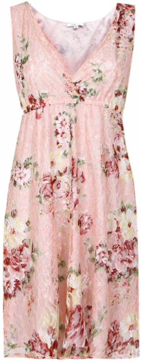 Платье жен oodji Ultra, цвет: светло-розовый, розовый, цветы. 11913001-1/26374/4041F. Размер 38-170 (44-170)11913001-1/26374/4041FПлатье