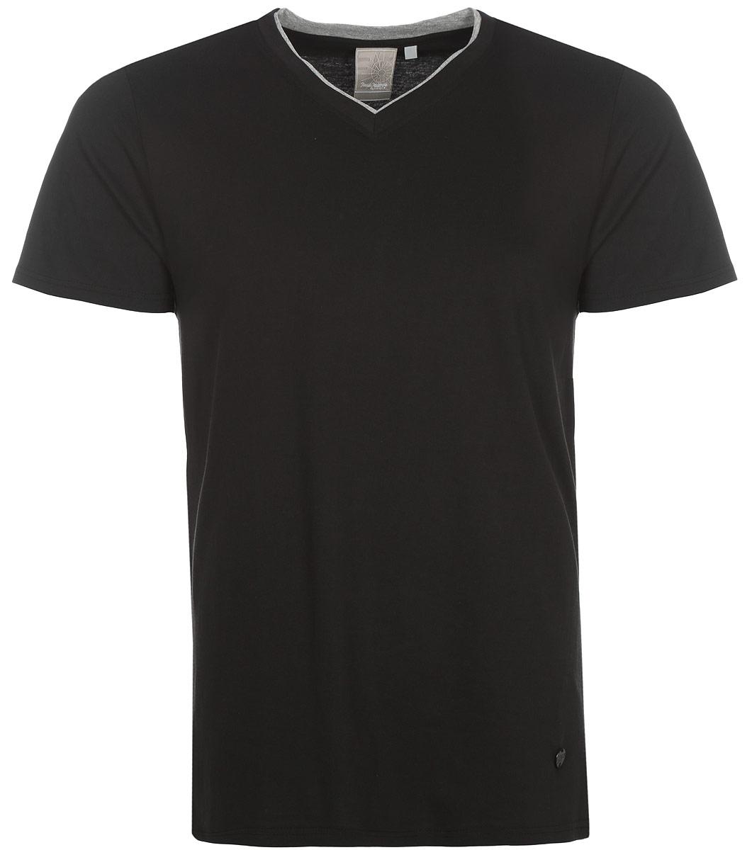 Футболка мужская Icepeak, цвет: черный. 757725514IVT_990. Размер XL (54)757725514IVT_990Мужская футболка Icepeak изготовлена из натурального хлопка. Модель прямого кроя выполнена с V-образной горловиной и короткими рукавами.