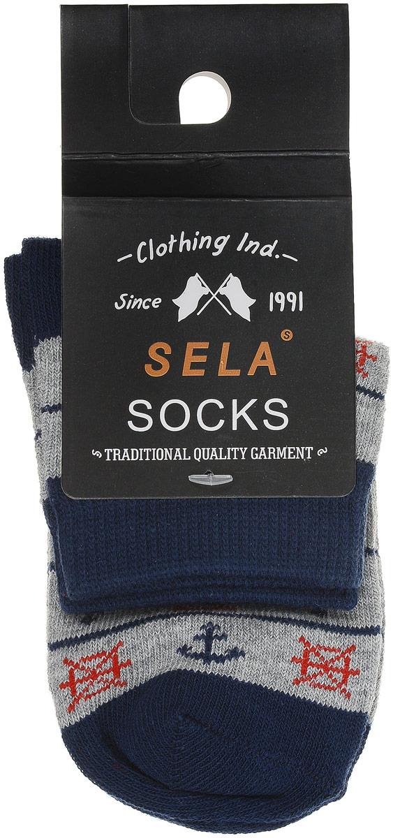 Носки для мальчика Sela, цвет: бледно-серый меланж. SOb-7854/037-7102. Размер 20/22SOb-7854/037-7102Носки для мальчика Sela - отличный вариант для повседневной носки. Носки изготовлены из эластичного хлопка с добавлением полиамида и оформлены оригинальным принтом.Мягкая эластичная резинка надежно фиксирует носки на ноге, не доставляя дискомфорта. Уважаемые клиенты! Размер, доступный для заказа, является длиной стопы.