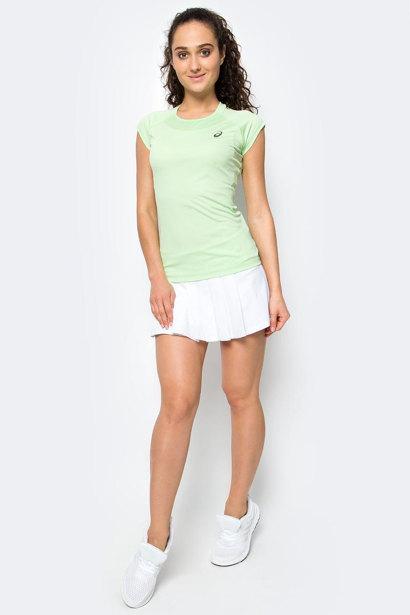 Юбка для тенниса Asics W Club Skort, цвет: белый. 143631-0001. Размер XS (42/44)143631-0001Юбка для тенниса с вшитыми шортиками Asics W Club Skort изготовлена из полиэстера с добавлением эластана. Короткая юбка оформлена пышными складками. Широкий эластичный пояс защищает кожу от натираний и дарит ощущение комфорта в течение всей тренировки.